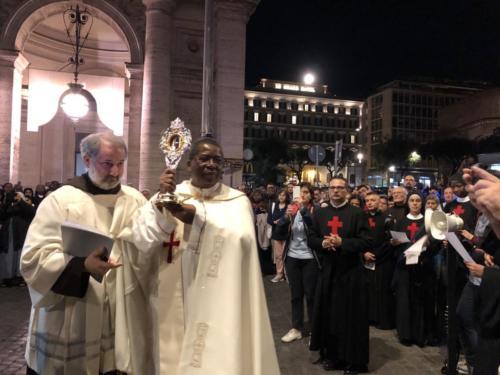 Benedizione alla Città con la Reliquia  della Beata